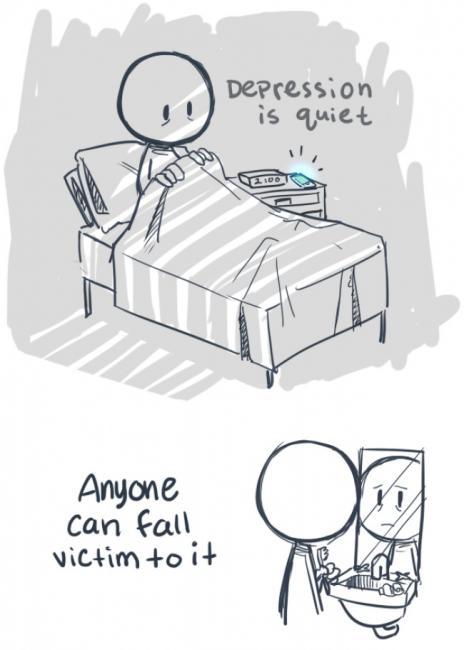 Depresjon er stille og usynlig