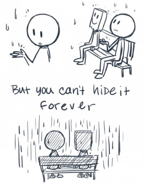 Du kan ikke skjule depresjon for evig