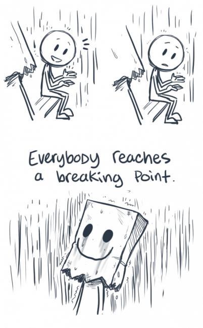 Alle med depresjon kommer til et kritisk punkt hvor de får lyst til å bryte sammen