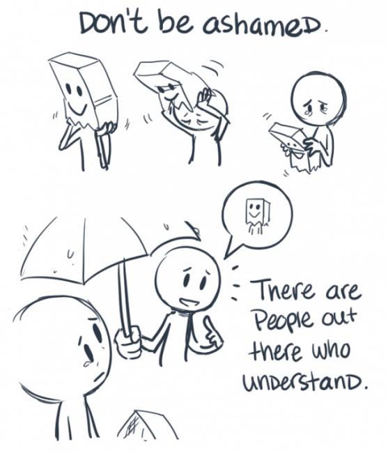 Du skal ikke skamme deg over depresjonen din. Du er ikke alene