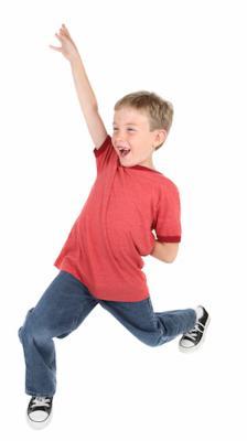 Dreng med damp (ADHD) kan ikke holde sin energi tilbage eller bevare sit fokus i længere perioder