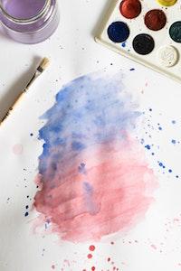 Vandfarver er anvendt til at skabe kunst, som kan udfolde sig fra ens underbevidsthed
